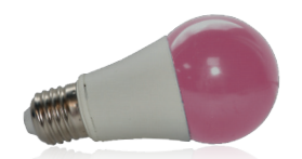 Ampoule LED 9W, Rose, E27