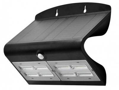 Applique LED Solaire 6.8W Noir