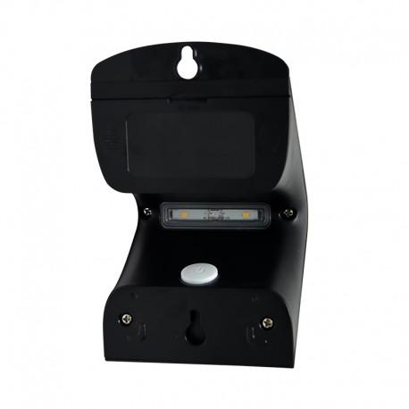 Applique LED Solaire 2W Noir -2