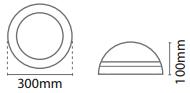 Dimension hublot LED 18W détecteur BN