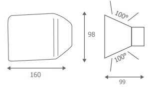 Dimension Applique 3W -33