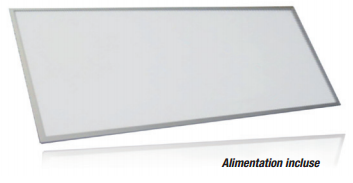 Pavé à LED 45W Blanc Chaud 297x1197 Finition Alu