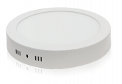 Plafonnier LED Saillie 18W Blanc neutre Rond Finition Blanc
