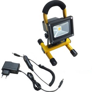 Projecteur led 10w portable et rechargeable ip65 jaune boutique - Projecteur led 12v ...